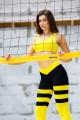 Топ для фитнеса желтый T121-C1