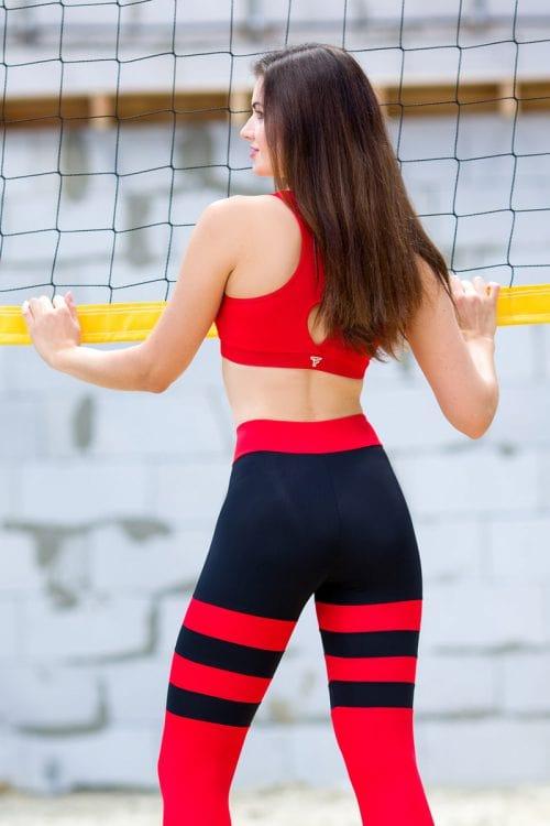 Топ для фитнеса красный T121-C4