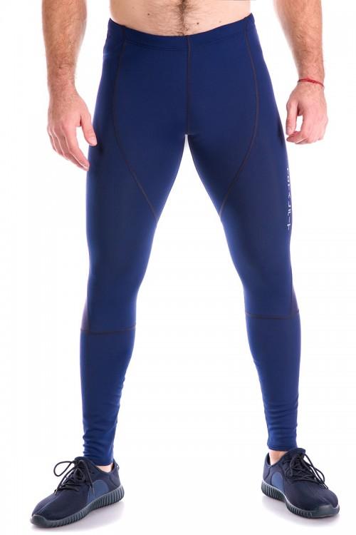 Мужские тайтсы G-2 темно-синие с сеткой