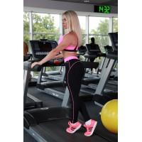 Классические лосины для фитнеса черно-розовые S11-C2