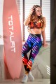 Спортивные лосины разноцветные ST13